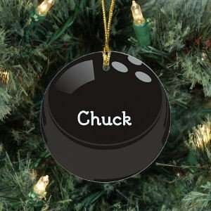 Personalized Name Bowling Ball Christmas Tree Ornament