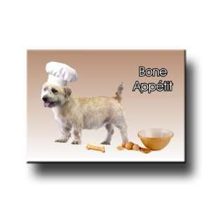 Glen Of Imaal Terrier Bone Appetit Chef Fridge Magnet