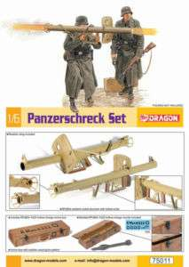 Dragon Models 1/6 Scale WWII German Panzerschreck Set Kit for 12