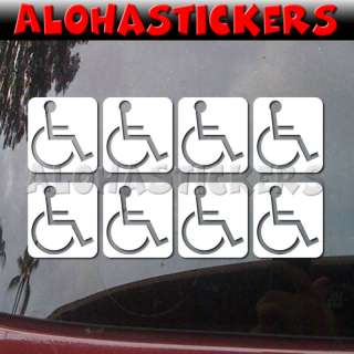 inch HANDICAP WHEELCHAIR Vinyl Decal Sticker L26X