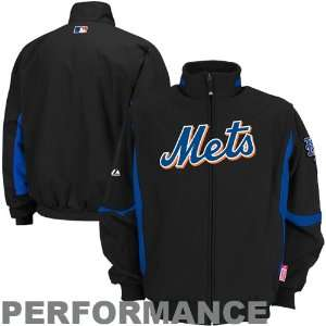 York Mets Youth Premier Performance Jacket   Black