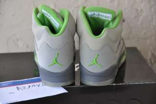 Nike Air Jordan Retro V 5 green bean 3m flint grey silver youth kids 5