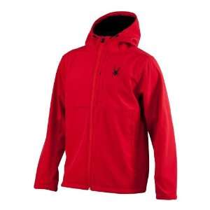 Spyder Mens Patsch Hoody Soft Shell Jacket   Red S
