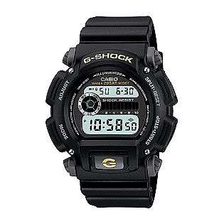 Mens Calendar Day/Date G Shock Watch w/Black Case, Digital Dial and