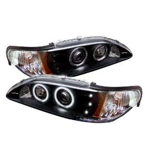1994 1998 Ford Mustang SR Black CCFL LED Projector