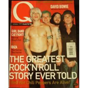 Q Magazine Red Hot Chili Peppers Back Issue October 1999