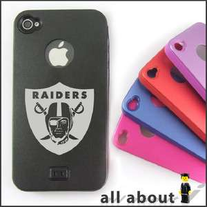Oakland Raiders NFL Team Logo For i Phone 4 / 4S Hard Metal Alumor
