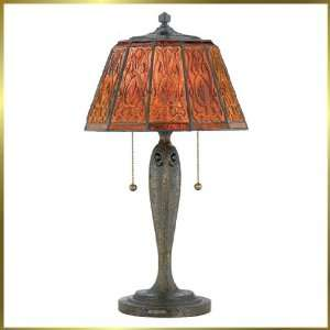 Tiffany Table Lamp, QZTF314T, 2 lights, Antique Bronze, 13