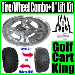 Club Car DS Golf Cart Lift Kit + 12 Wheel & Tire Combo