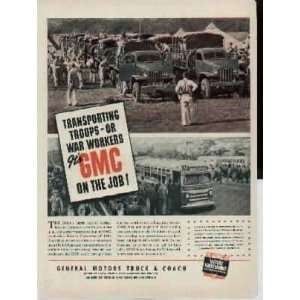 Job  1942 General Motors Truck & Coach Ad, A3725A. Everything