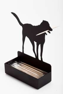 ARTORI Toothpick Dog Fancy Metal Toothpick Holder Black