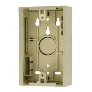 Leviton 42777 1IB Surface Mount Backbox, Single Gang, Ivory, Box Depth