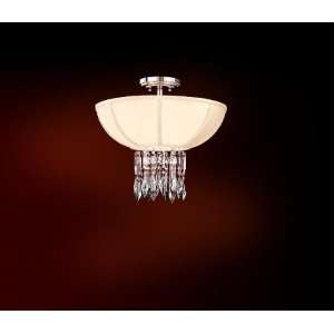 Corbett Lighting 70 33 Polish Chrome Finish Cascade Crystal 3 Light