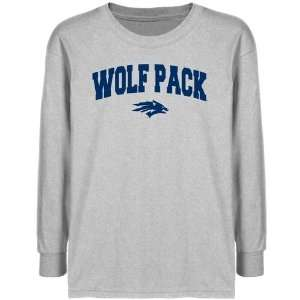 Nevada Wolf Pack Youth Ash Logo Arch T shirt