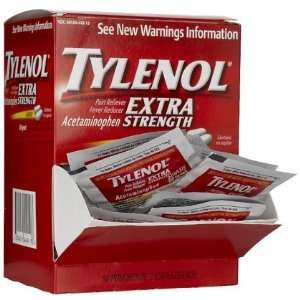 Tylenol Extra Strength Pain Reliever & Fever Reducer Caplet Packets 50