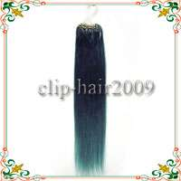 18Remy Loop Micro Ring Human Hair Extensions50s#BLue