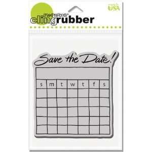 Stampendous Cling Rubber Stamp   Date Calendar Arts, Crafts & Sewing
