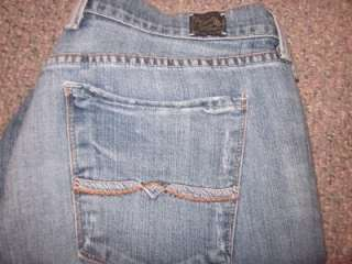 LUCKY BRAND~EASY RIDER~CROPPED~LOW RISE~STRETCH~CAPRI JEANS SZ 14/32