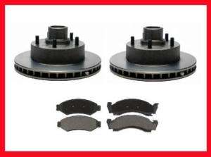 87 93 Ford Econoline Van E150 Front Brake Rotors & Pads