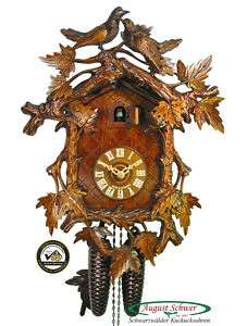 Black Forest Cuckoo Clock 8 Day Luxury Carving 16 NEW