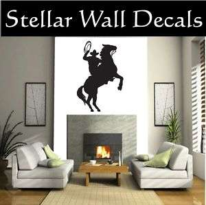 Cowboy Horse Rodeo Wall Car Vinyl Decal Sticker ST133