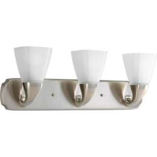 Progress Lighting Addison Collection Brushed Nickel 3 Light Vanity