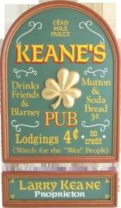 0217 OLD IRISH PUB AND PERSONALIZED WOODEN SIGN