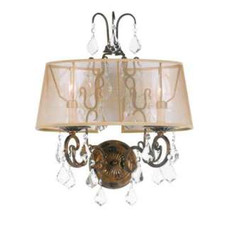 Collection 2 Light Antique Gold Wall Sconce WI196290