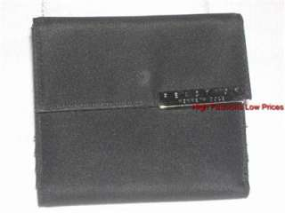 KENNETH COLE Reaction Trifold Wallet Silver Signature Small Black