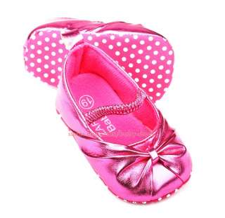 Newborn Reborn Baby Girls Ballet Soft Sole Shoes Size 0 6 Months