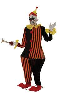HALLOWEEN LIFESIZE ANIMATED EVIL SOUND HONKY CLOWN PROP