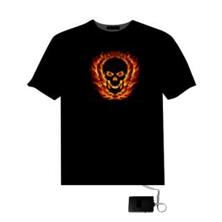 LED Equalizer T Shirt Rave Clothes Sound Activated Club