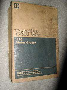 CATERPILLAR 12G MOTOR GRADER PARTS MANUAL BOOK CATALOG CAT 61M2629