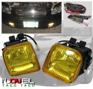 96 97 98 HONDA CIVIC JDM OEM FOG LIGHTS YELLOW EX LX DX