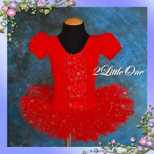 Girl Red Ballet Tutu Dance Costume Dress Size 4 5