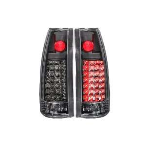 Anzo USA 311006 Chevrolet Black LED Tail Light Assembly   (Sold in