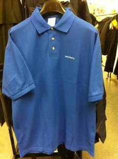 This Listing is for genuine blue Fruit Of The Loom Railtrack polo