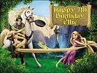 A4 Personalised Tangled Rapunzel Edible Icing Birthday Cake Top Topper