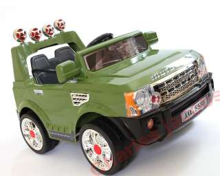 KIDS RIDE ON CAR 12V LAND ROVER Electric Battery TRUCK BLACK/GREEN/RED
