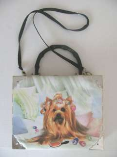 Womens Handbag Purse Cigar Box Yorkie Yorkshire Terrier