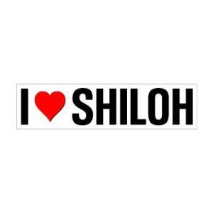 I Heart Love Shiloh   Window Bumper Sticker Automotive