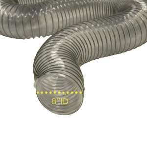 PVC Flexduct (Light Duty) Clear   Vent Hose   10 ID x 12.5ft Length