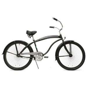 GreenLine Beach Cruiser Bicycle   BC106 Mens Black