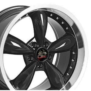 Style Deep Dish Wheels Fits Mustang (R)   Black 20x8.5 /20x10 Set of 4