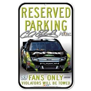 Carl Edwards 11 x 17 Reserved Parking Sign  Sports