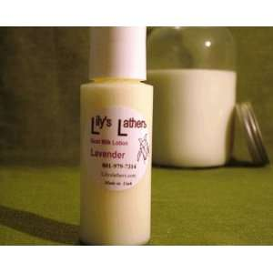 Lilys Lathers Lavender Natural Goat Milk Lotion for Normal Skin 2 oz