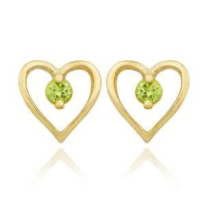 18k Yellow Gold Plated Sterling Silver Genuine Peridot