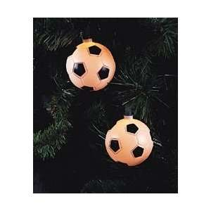 of 10 Soccer Ball Sport Christmas Lights   Green Wire