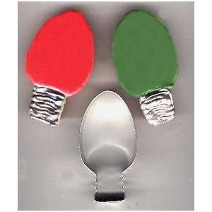 Christmas Holiday Light Bulb Ornament Cookie Cutter for Party Favors