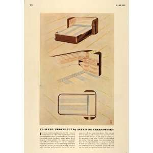 1936 Print Bedroom Sleep Lighter Ashtray Radio Clocks